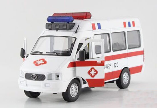 White-Red / White-Green 1:32 Scale Kids Iveco Ambulance Van Toy