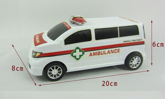 Kids White 20cm Plastics Ambulance Van Toy