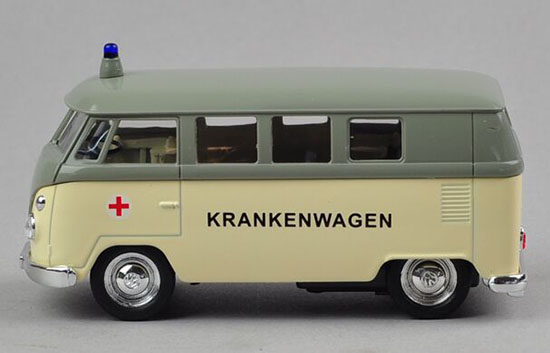 Kids 1:36 Scale Welly Diecast 1962 VW T1 Ambulance Van Toy