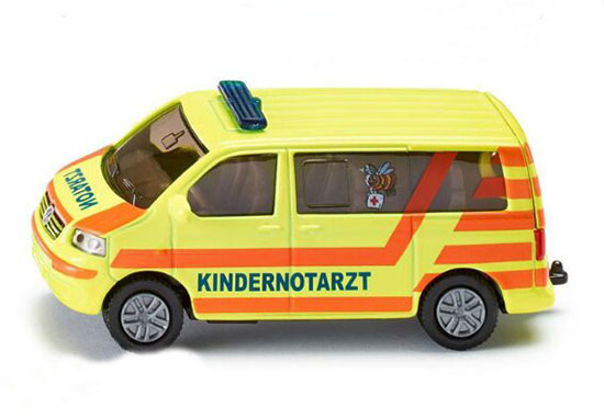 Kids Mini Scale Yellow-Red SIKU VW T5 Ambulance Van Toy