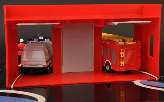 Kids 1:60 Scale Die-Cast Fire Protection Simulative Scene Toy