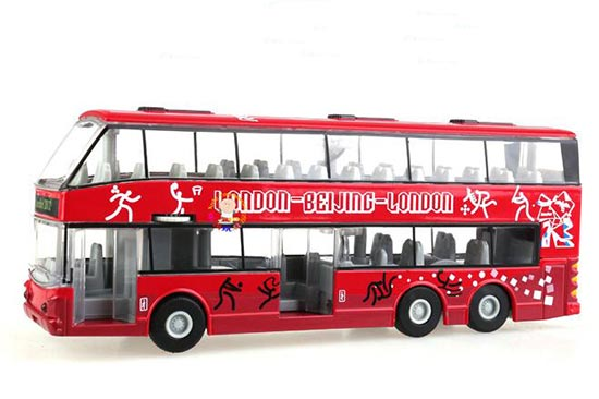 Red 1:32 Die-Cast BeiJing To London Olympic Double Decker Bus