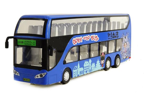 Red / Yellow / Blue Kids Die-Cast BeiJing Double Decker Bus Toy