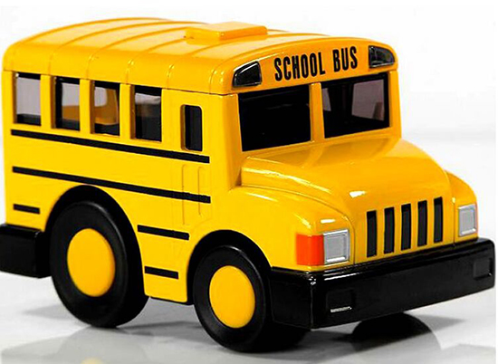 Kids Yellow Die-Cast Pull-Back Function School Bus Toy