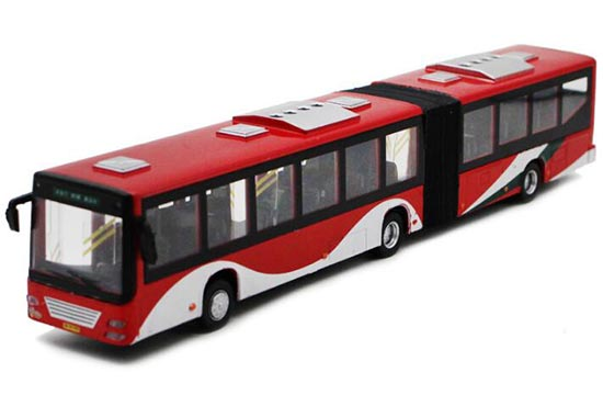 Kids Yellow / Red / White Die-Cast BeiJing Articulated Bus Toy