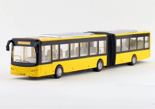 Yellow / Red / White Kids Die-Cast BeiJing Articulated Bus Toy