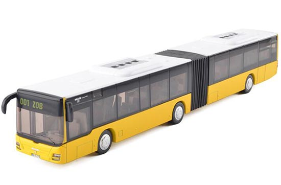 Yellow 1:50 Scale SIKU U3736 Die-Cast MAN Articulated Bus Toy