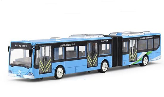 Red /White /Blue Kids NO.12 Die-Cast BeiJing Articulated Bus Toy