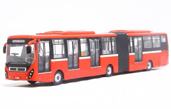 Red 1:64 Scale Die-cast SunWin BRT Articulated Bus Model