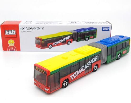 Red-Yellow 1:120 Kids TOMY Diecast Mercedes-Benz Articulated Bus