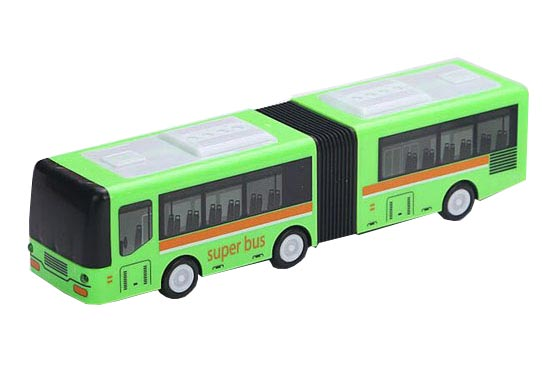 Blue /Green 1:64 Scale Kids Plastic Electric Articulated Bus Toy
