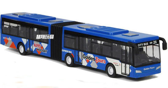 Kid Blue /Red /Yellow Pull-Back Function Diecast Articulated Bus