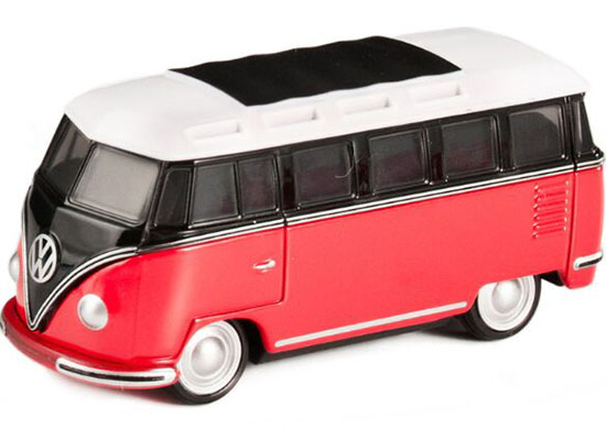 Kids 1:65 Red-Black Tomica NO.7 Die-cast VW T2 Bus Toy
