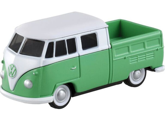 Green-White 1:65 Tomica NO.9 Die-cast VW T2 Pickup Truck Toy