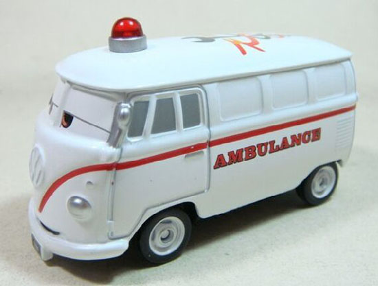 Mini Scale Kids White Tomica Cars 2 VW Ambulance Bus Toy
