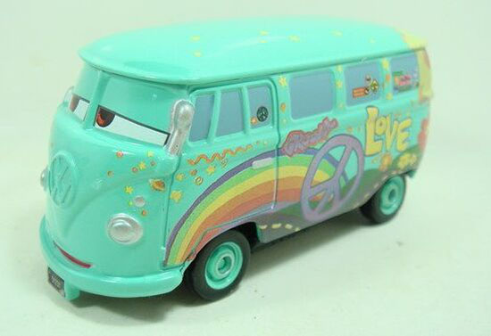 Kids Love Peace Pattern Tomica Cars 2 Die-cast VW Bus Toy