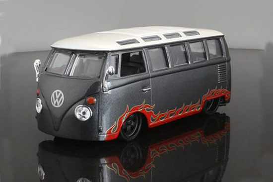Deep Gray 1:25 Scale Maisto VW Van Samba Bus Model