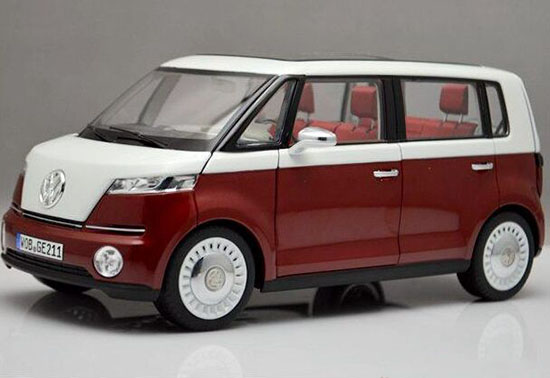 1:18 Scale NOREV Red-White 2015 Die-cast VW T1 Bulli Bus Model