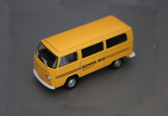 Yellow 1:36 Scale Kids Die-cast 1972 VW T2 School Bus Toy