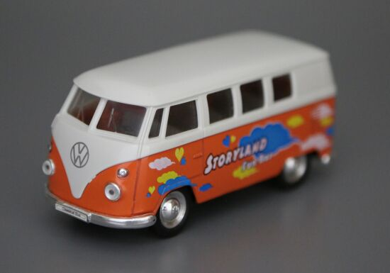 Kids 1:36 Scale Orange Storyland Die-cast 1963 VW T1 Bus Toy
