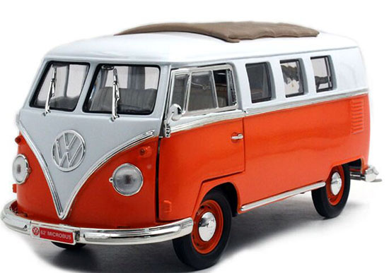 Five Colors 1:18 Scale YaMing Die-cast 1962 VW T1 Bus Model