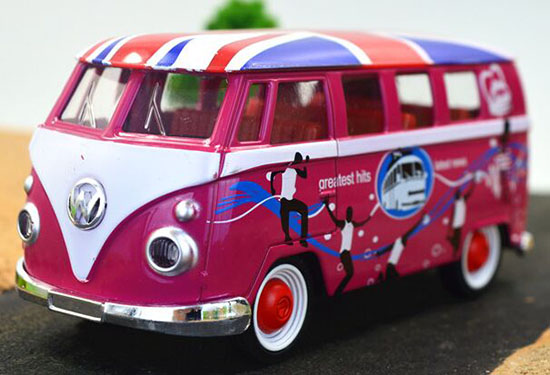 Red/ Blue / Green 1:32 Scale Kids Die-cast VW T1 Bus Toy
