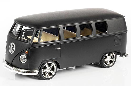 Kids 1:36 Scale Black Die-Cast VW T1 Bus Toy