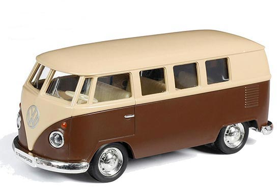 Brown-White 1:36 Scale Kids Die-Cast VW T1 Bus Toy