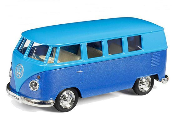 Bright Blue 1:36 Scale Kids Die-Cast VW T1 Bus Toy