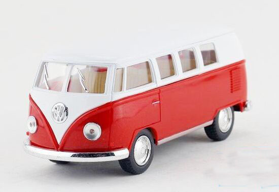Kids 1:36 Red/ Green/ Wine Red/ Yellow Die-cast VW T1 Bus Toy