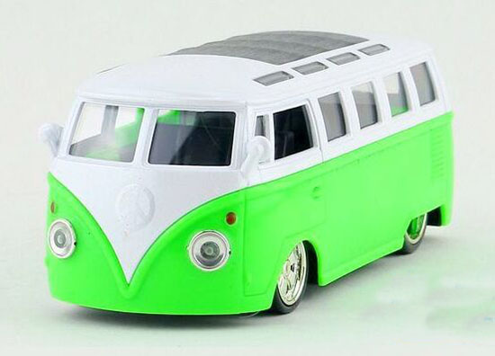 Blue / Orange / Green / Pink Kids 1:36 Die-cast VW T1 Bus Toy