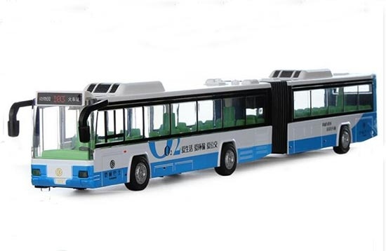 Blue /Green /Orange Kid Large Scale Diecast Articulated Bus Toy