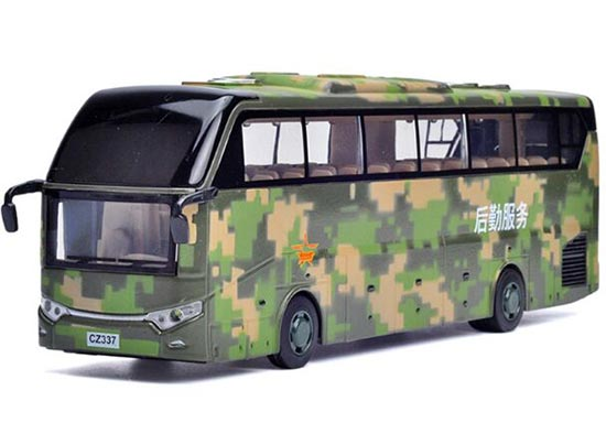 Army Green Logistics Service Kids Diecast Coach Bus Toy