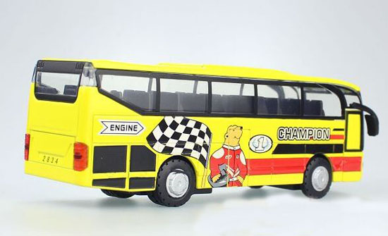 Red / Blue / Yellow Kids Diecast Coach Bus Toy