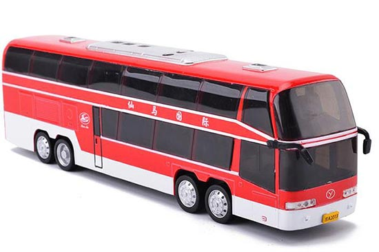 Yellow /Red /Green /White Diecast Double Decker Coach Bus Toy
