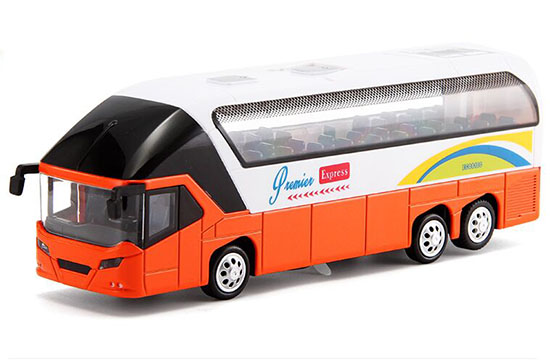 Yellow / Orange / Red Kids Diecast Coach Bus Toy