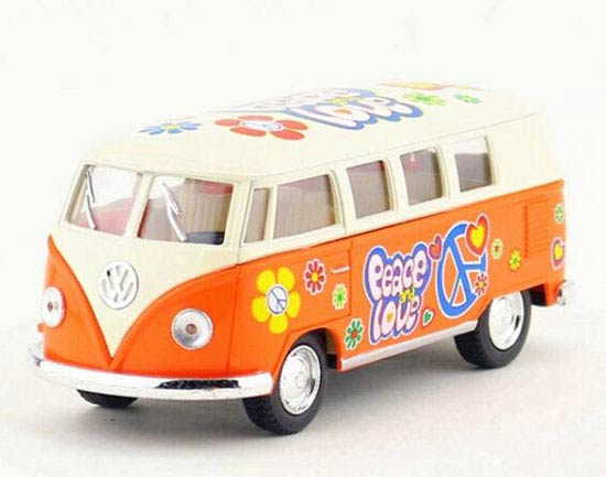 1:32 Red / Yellow / Blue / Orange 1962 Diecast VW T1 Bus Toy