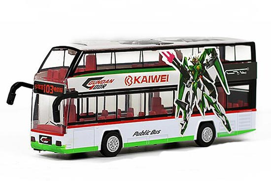 Red / Blue / Green Kids 1:32 Diecast Double Decker Bus Toy