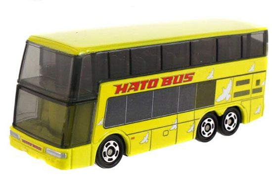 Kids NO.42 Yellow Tomica Diecast Hato Double Decker Bus Toy