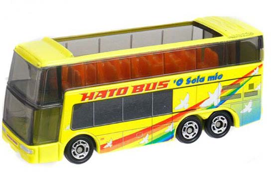NO.42 Yellow 1:156 Tomica Diecast Hato Double Decker Bus Toy