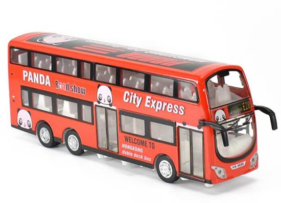 Red 1:32 Scale Hong Kong Kids Diecast Double Decker Bus Toy