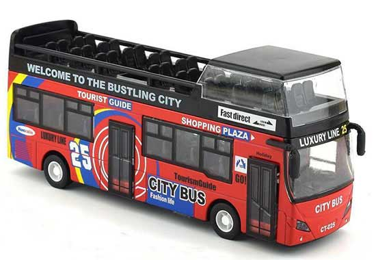 Green / Red / Yellow Kids Diecast London Double Decker Bus Toy