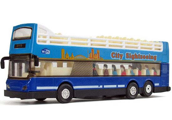 Red /Blue /Orange Kid Diecast Double Decker Sightseeing Bus Toy