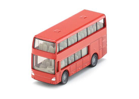 Kids Red SIKU 1321 Diecast Double Decker Bus Toy