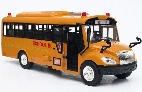 Kids Yellow Electric Plastic School Bus Toy