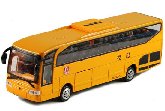 Kids Yellow 9 Inch Diecast School Bus Toy