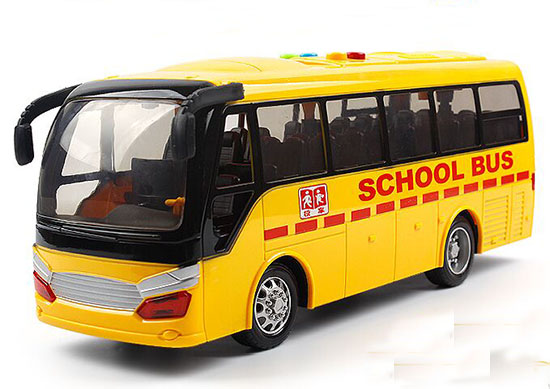 Kids Yellow Large Scale Plastic School Bus Toy