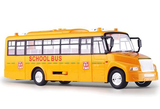 Large Scale Kids Yellow Plastic School Bus Toy