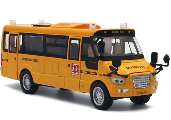 Yellow Pull-Back Function Kids Diecast School Bus Toy