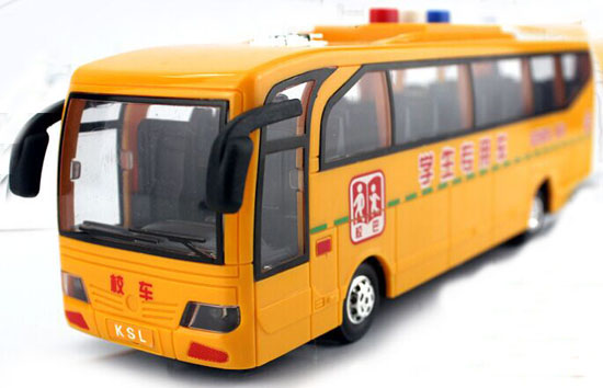 Yellow Kids Plastic Chinese School Bus Toy